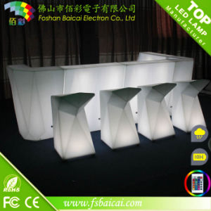 Fast Delivery Rechargeable PE Plastic Coffee Shop LED Furniture Counter
