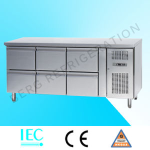 High Quality Stainless Steel 3 Door Pizza Refrigerator Counter pictures & photos