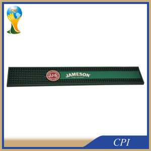 Custom High Quality Embossed Logo Soft PVC Rubber Beer Bar Mat