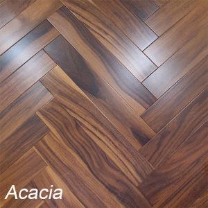 Acacia Herringbone Parquet Flooring Small Leaf Wooden