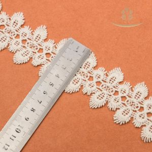 High Quality Embroidery Embroidered Cotton Lace Trim pictures & photos