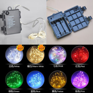 Heat-Insulated Waterproof Battery Box Colorful 30LED 10.8FT Rope String Lights pictures & photos