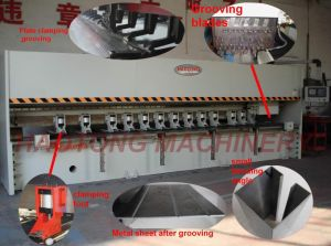CNC V Grooving Machine, Metal Sheet Slotting Machine (RCK-1220X4000)