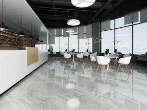 Manufacturer in China Half Body Polished Porcelain Ceramic Floor Tiles Bathroom Wall Tile 800X800mm (8866