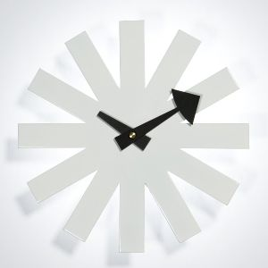White Color George Nelson Asterisk Clock
