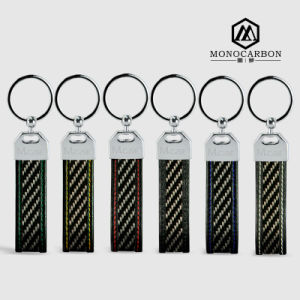 High Quality Low MOQ Carbon Fiber Metal Keychain pictures & photos