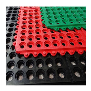Various Color Interlocking Rubber Flooring (Rubber Sheet)