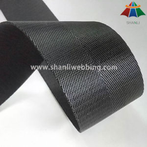50mm Black Herringbone Polyester Webbing