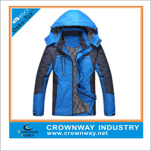 Mens Hooded Waterproof Outdoor Light Jacket with Front Zipper pictures & photos