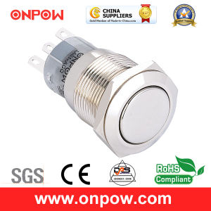 Onpow 19mm Metal Push Button Switch (LAS1-AGQ-11/N, CE, UL, CCC, RoHS) pictures & photos