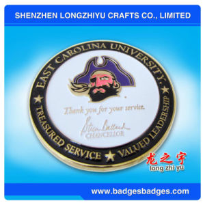 Enamel Golden Metal Coin in Mini Size pictures & photos