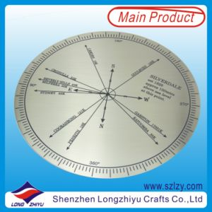 Compass Stainless Steel Etching and Paint Filling Nameplate Label pictures & photos