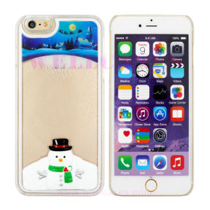 Christmas Santa Claus/Snowman Quicksand Mobile Phone Case for iPhone 5/6/6plus
