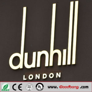 Customed Popular Outdoor LED Illuminated Stainless Steel Wall-Mounted Letter Signs pictures & photos