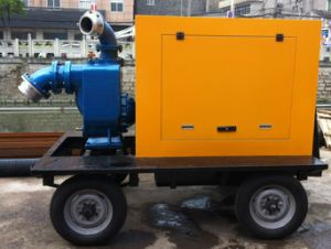 Sewage Trash Dewatering Water Pump with Trailer pictures & photos