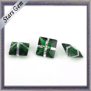 Wholesale Green Glass and White Color Fashion Gemstone pictures & photos
