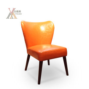 Orange Leather Dining Chair (A20)