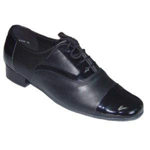 Black Leather Men′s Ballroom/Standard Dance Shoes