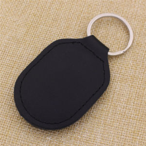 Customize Factory Price OEM Leather Keychain with Steel Key Ring
