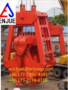 Four Ropes Clamshell Dredging Grab for Sand Mud in Stock pictures & photos