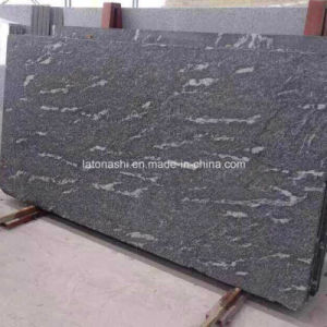 Flamed Granite Snow Grey Jet Mist Black Slabs for Wall and Flooring pictures & photos
