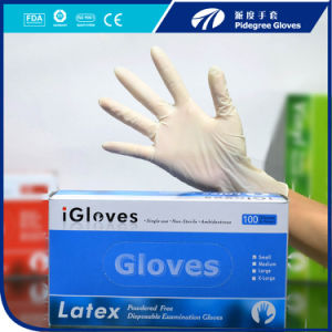 Popular Rubber Hand Gloves Disposable Latex Gloves Powder or Non-Powder pictures & photos