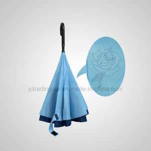 Inside-out Umbrella Upside Down Reverse Umbrella Automatic Straight Umbrella (JL-ARV101)