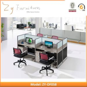 Modern Call Center Computer Cubicle Office Partition Workstation With  Cabinet