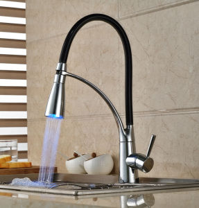 Blue Bay Hot Selling Pull out Ce LED Sink Faucet pictures & photos
