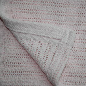 Soft 100% Ring Spun Cotton Cellular Baby Blanket pictures & photos