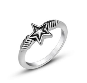 Star Shape Stainless Jewelry Men′s Ring