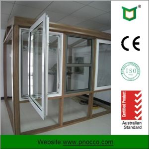 Aluminum Profile Crank Window with Double Glass Made in China pictures & photos
