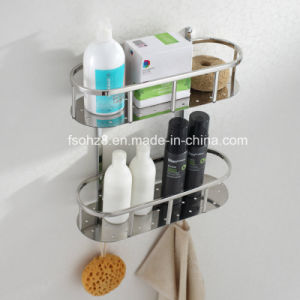 Multi-Functional Polishing Bathroom Basket Shampoo Holder with Hooks (6612) pictures & photos
