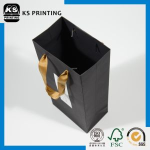 High-End Black Customized Handbag Packaging Paper Bag