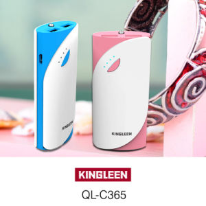 Model Kingleen-C365 Power Bank 5200mAh High Quality for Phone Dual USB 2A Output Factory Direct Sale