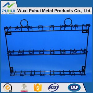China Metal Wall Fixed Wire Display Rack With Hooks For Hanging