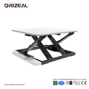 ergonomic desk setup. Orizeal White Standing Desk, Ergonomic Desk Setup, Uplift (OZ-OSDC007) Setup