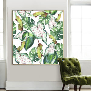 Palmate Leaves Canvas Wall Decor