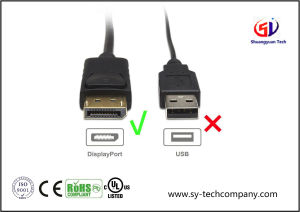 Gold Plated Displayport to Displayport Cable with 4k Resolution Ready pictures & photos
