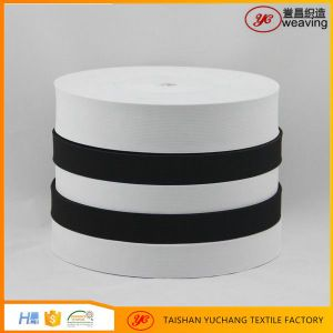 Imported Rubber Factory White Black Crochet Knitted Elastic Band Webbing