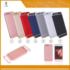 3 in 1 Electroplating Mobile Cases for Huawei P10 Hybrid Armor Rubber Oil Brush Phone Cases for Huawei P10 pictures & photos