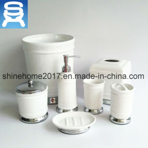 Wholesale Ceramic Bathroom Accessory, Soap Boxes Bathroom Set pictures & photos