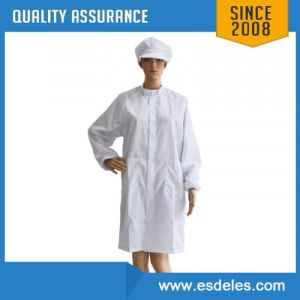 Antistatic ESD Labcoat with Conductive Yarn for Electronics Production (ES11101)