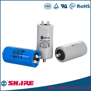 CD60 Capacitor Aluminum Blue Shell Electric Motor Start Capacitor pictures & photos