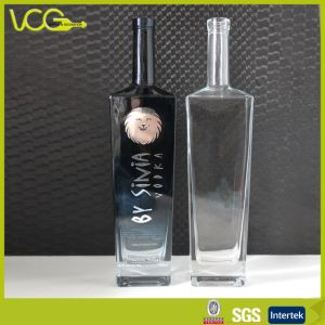 750ml Printed Vodka Bottle (Silver stamping)