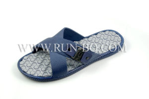 Men′s Fashion PVC Blowing Indoor Slipper (#RX-AS098)
