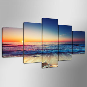 5 Panels The Seaview Modern Home Wall Decor Painting Canvas Art HD Print Painting Canvas Wall Picture for Home Decor Mc-162 pictures & photos