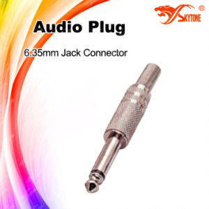 6.35mm Mono Mixing Audio Jack Plug Connector pictures & photos