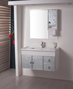 PVC&Glass Drawing Bathroom Cabinet (W-157)
