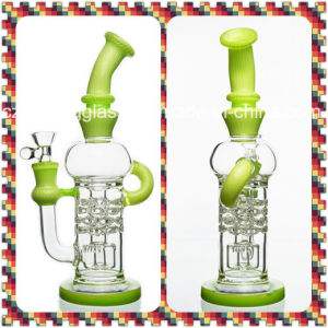 Shining Wonderful Design Glass Water Smoking Pipe with USA Color pictures & photos